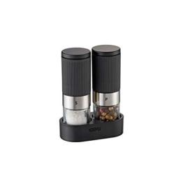 GEFU 34621 Salz- & Pfeffermühle TUSOME - 2 Mini-Gewürzmühlen mit Tischgestell - 1