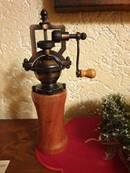 Gewürzmühle aus Holz handmade Pfeffermühle Vintage Einstellbares Mahlwerk Handgedrechselt Unikat aus Mahagoni/Meranti - 1