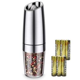 Gewürzmühle, Salz und Pfeffer Mühle 100 ML Verstellbarem Elektrische Pfeffermühle Mit LED Einstellbarem Feinheit (6 Batterien enthalten) - 1