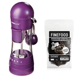 Kochblume Cookline Gewürzmühle Pfeffermühle Salzmühle mit verstellbarem Keramikmahlwerk und extra Zugabe (lila) - 1