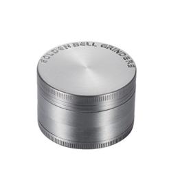 LIHAO Pollen Grinder Crusher für Spice,Kräuter,Gewürze,Herb,Kaffee 4-teiliges Set mit Pollen Scraper (Antike Silbrig) - 1
